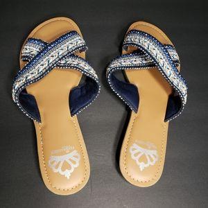Fergalicious by Fergie Starlit Cross Strap Sandals